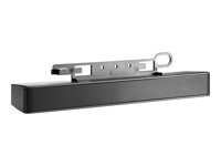 HP LCD Speaker Bar - Högtalare - för HP 100; EliteDesk 705 G3; ProDesk 400 G4, 600 G3; ProOne 400 G3, 600 G3; Smart t410 NQ576AA
