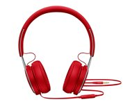 Beats EP - Hörlurar med mikrofon - på örat - kabelansluten - 3,5 mm kontakt - ljudisolerande - röd - för 10.5-inch iPad Pro; 12.9-inch iPad Pro; 9.7-inch iPad; 9.7-inch iPad Pro; iPad; iPad 1; 2; iPad Air; iPad Air 2; iPad mini; iPad mini 2; 3; 4; iPad with Retina display; iPhone 3G, 3GS, 4, 4S, 5, 5c, 5s, 6, 6 Plus, 6s, 6s Plus, SE; iPod classic; iPod nano; iPod shuffle (4G); iPod touch ML9C2ZM/A